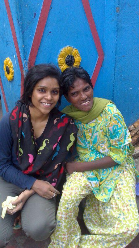 Pedamma's favourite volunteer Priyanka.